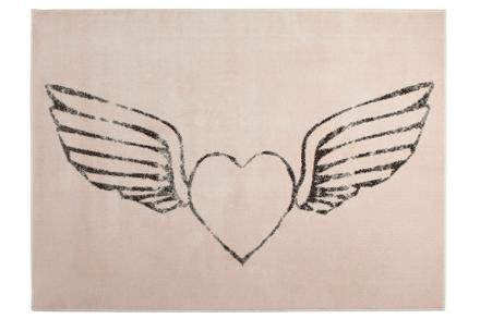 Lorena Canals-alfombra-corazon alas nude 140x200cm