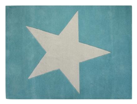 Lorena Canals alfombra estrella azul 140x200cm