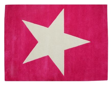 Lorena Canals alfombra estrella fucsia 140x200cm