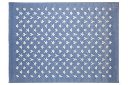 Lorena Canals alfombra estrellitas-azul 120x160cm. 140x200cm. 220x300cm