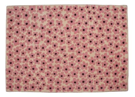 Lorena Canals alfombra florecitas rosa 140x200cm.
