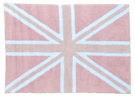 Lorena Canals alfombra Washable Flag England rosa-pink 140x200cm