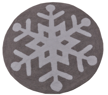 Lorena Canals alfombra Washable snow flake 140x140cm