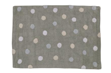 Lorena Canals alfombra Washable topos tricolor azul_blue 120x160cm
