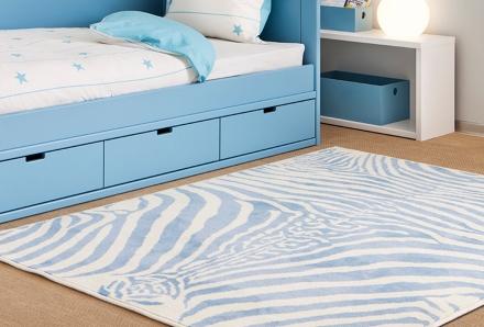 Lorena Canals zebra azul
